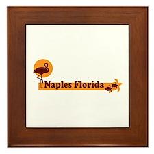 Naples FL - Beach Design. Framed Tile