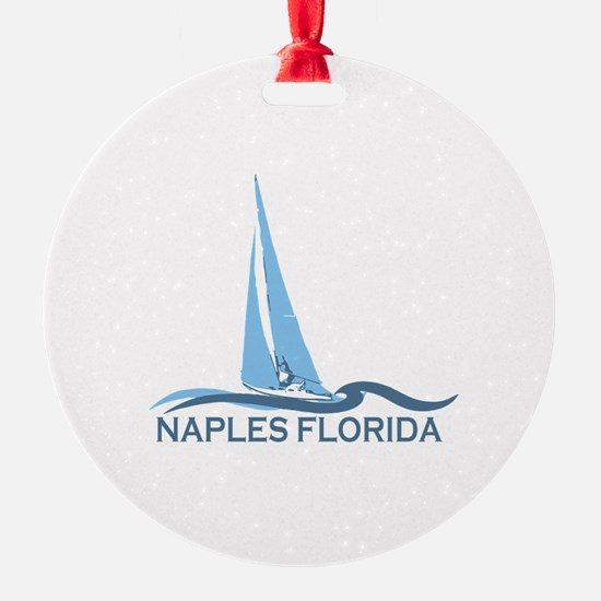 Naples Beach - Sailing Design. Ornament
