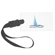 Naples Beach - Sailing Design. Luggage Tag