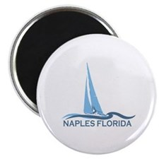 Naples Beach - Sailing Design. Magnet