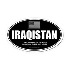 Iraqistan - Been There, Done That Oval Car Magnet