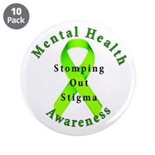 """Stomping Out Stigma 3.5"""" Button (10 pack)"""