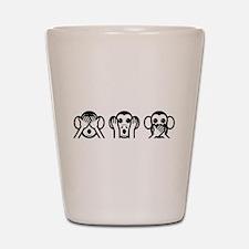 Three Wise Monkeys Emoji Shot Glass