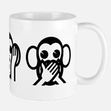 Three Wise Monkeys Emoji Small Mug