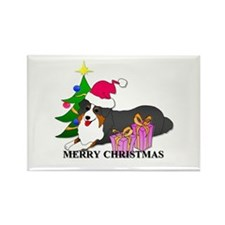 Australian Shepherd Dog Rectangle Magnet