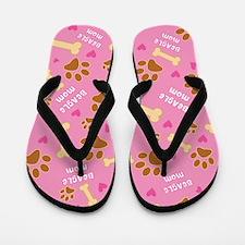 Beagle Mom Gift Flip Flops