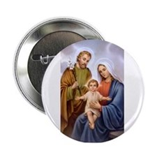 Jesus, Mary and Joseph Button