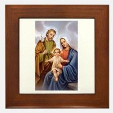 Jesus, Mary and Joseph Framed Tile