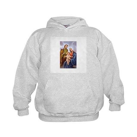 Jesus, Mary and Joseph Kids Hoodie