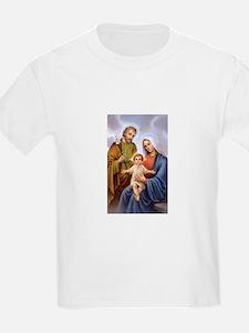 Jesus, Mary and Joseph Kids T-Shirt