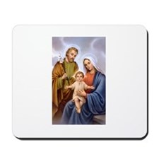Jesus, Mary and Joseph Mousepad