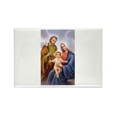 Jesus, Mary and Joseph Rectangle Magnet