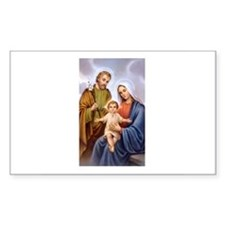 Jesus, Mary and Joseph Rectangle Decal
