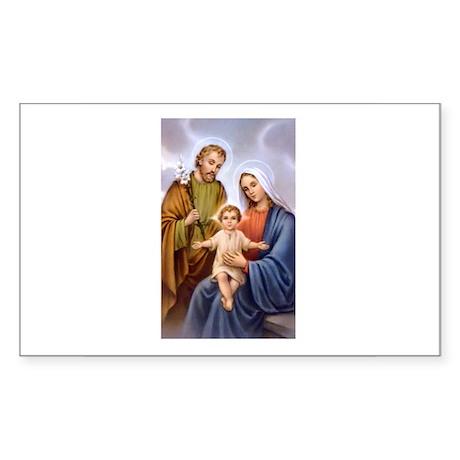 Jesus, Mary and Joseph Rectangle Sticker