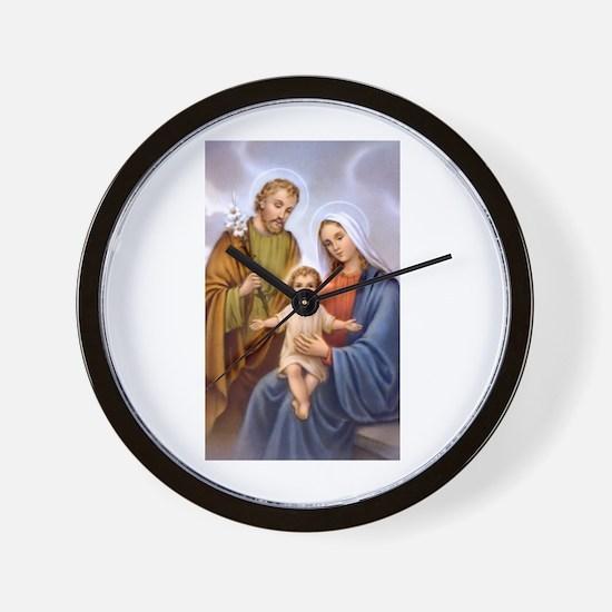 Jesus, Mary and Joseph Wall Clock