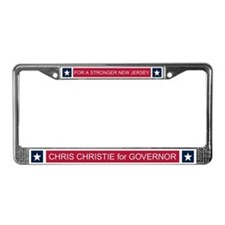 Elect Chris Christie License Plate Frame