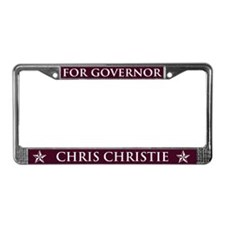 Vote Chris Christie License Plate Frame