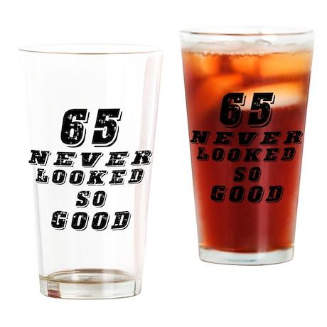 65 Birthday Designs Drinking Glass