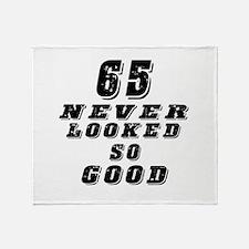 65 Birthday Designs Throw Blanket