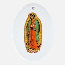 Virgen de Guadalupe Oval Ornament