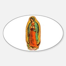 Virgen de Guadalupe Oval Decal