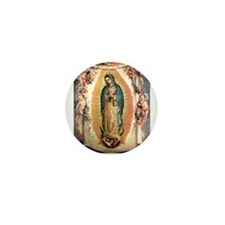 Our Lady Guadalupe with Angel Mini Button
