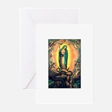 Our Lady Guadalupe Defending Greeting Cards (Packa