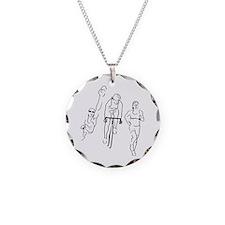 Triathlon Woman Necklace