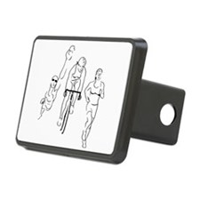 Triathlon Woman Hitch Cover
