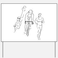 Triathlon Woman Yard Sign