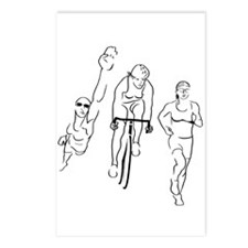 Triathlon Woman Postcards (Package of 8)