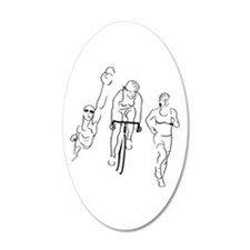 Triathlon Woman Wall Sticker