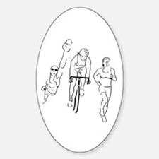 Triathlon Woman Decal