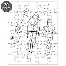 Triathlon Woman Puzzle