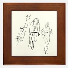 Triathlon Woman Framed Tile
