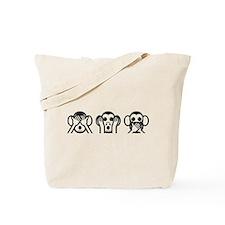 Three Wise Monkeys Emoji Tote Bag