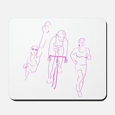 Triathlon Woman Mousepad