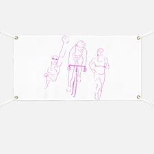 Triathlon Woman Banner