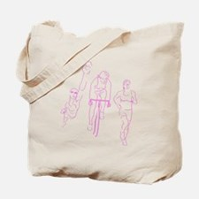 Triathlon Woman Tote Bag