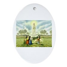 Our Lady of Fatima Oval Ornament