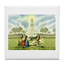 Our Lady of Fatima Tile Coaster