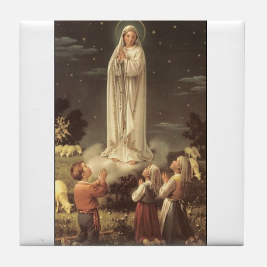 Our Lady of Fatima Tile Coaster