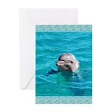 Dolphin Blue Water Greeting Card