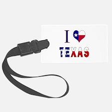 I (Heart) Love Texas Flag Luggage Tag