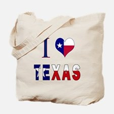 I (Heart) Love Texas Flag Tote Bag