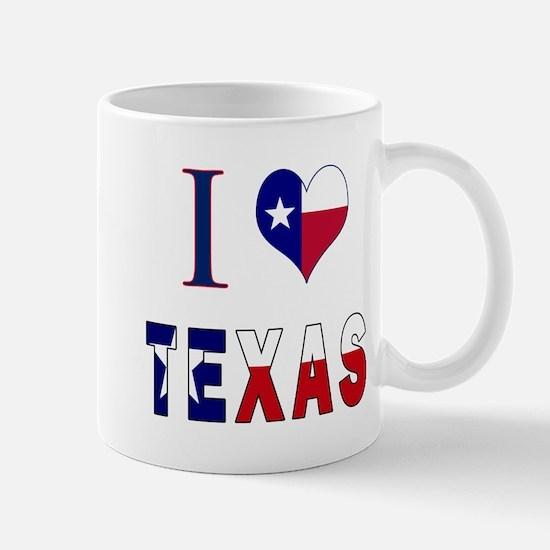 I (Heart) Love Texas Flag Mug