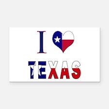 I (Heart) Love Texas Flag Rectangle Car Magnet