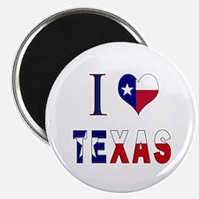 I (Heart) Love Texas Flag Magnet