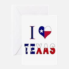 I (Heart) Love Texas Flag Greeting Card