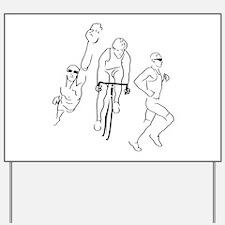 Triathlon Man Yard Sign